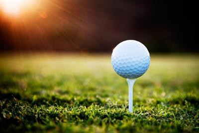 10668793 - close up of golf ball on tee