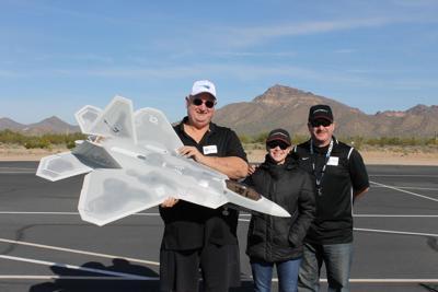 Model plane hobbyists flying into Mesa park