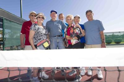 octogenarian club of pickleball players from Ahwatukee