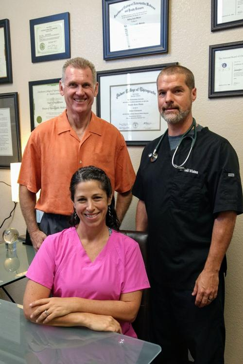 Keith Smith, left, has joined Todd and Jen Winton in their Ahwatukee medical practice.