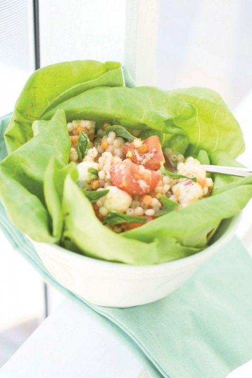 Non-traditional bruschetta couscous salad