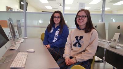 Xavier College Preparatory juniors Gillian Vaughn, left, and Skylar Smith