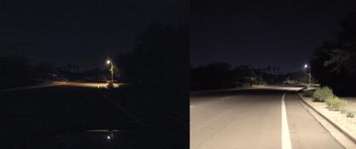 high-pressure sodium lights/LED 2,700-kelvin lights