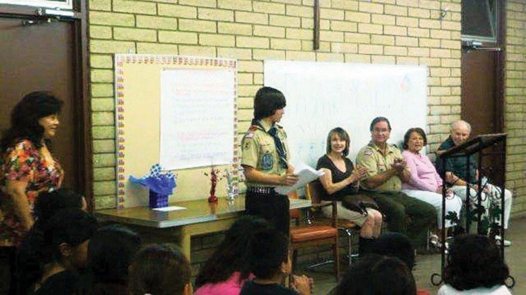 Eagle Scout Andrew Hoge