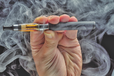 Female hand with an Electronic Cigarette