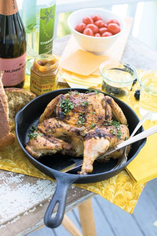 Cast iron skillet roasted chicken