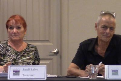 Foothills Community Association Board Treasurer Sandi Salvo and President Bill Fautsch