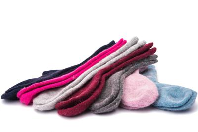 warm socks isolated