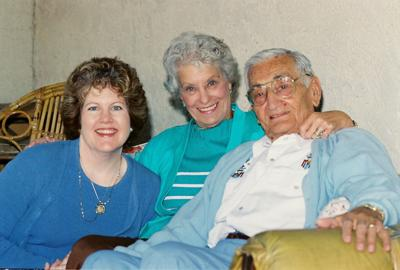 Ahwatukee author Katrina Shawver, left, befriended Nancy and Henry Zguda when the couple, now deceased, lived in Ahwatukee Lakes.