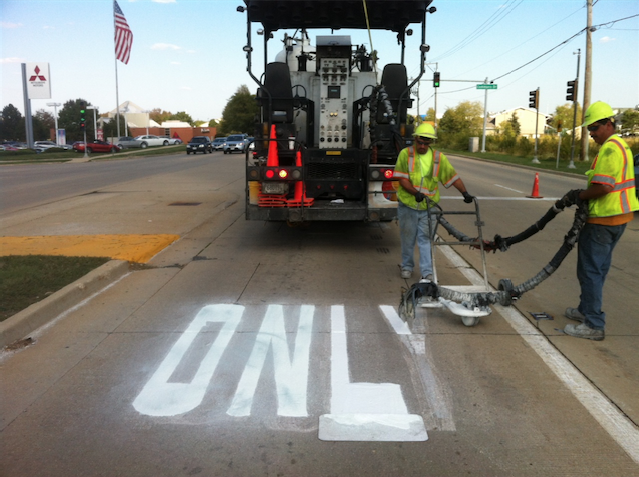 Meirick provides lane striping and painting