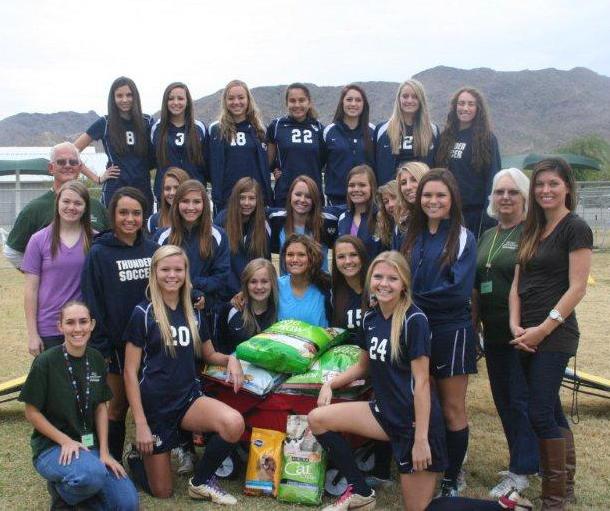 Desert Vista girls soccer team