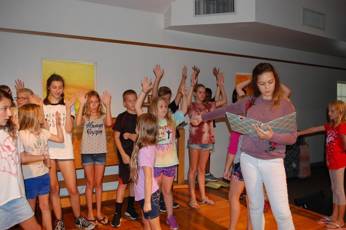 "Local children are rehearsing for a Christmas musical to be presented at the church Dec. 15-17. The musical is a take-off on ""The Nutcracker and the Mouse King."""