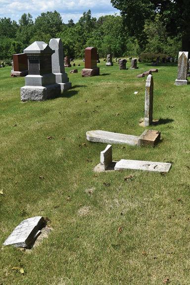 Woodlawn Cemetery vandalism