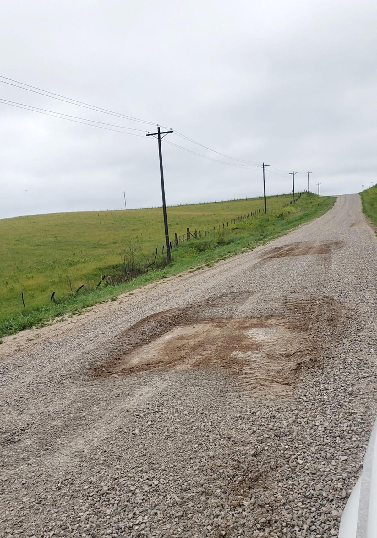 Rock thief damages Monroe County road
