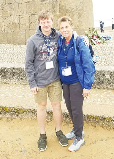 Hoskins takes in D-Day 75th with grandson