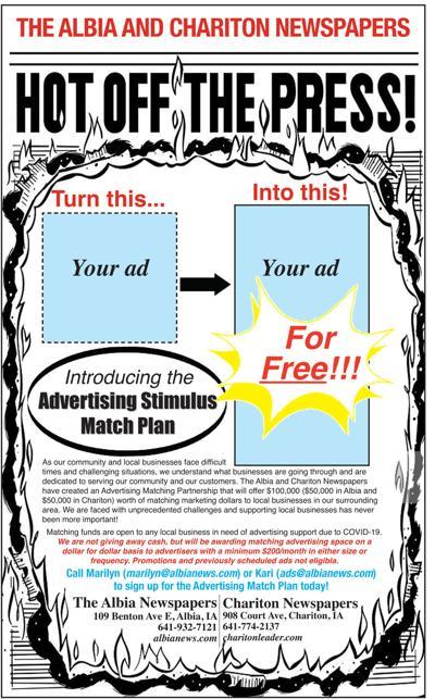 Albia Newspapers advertising stimulus