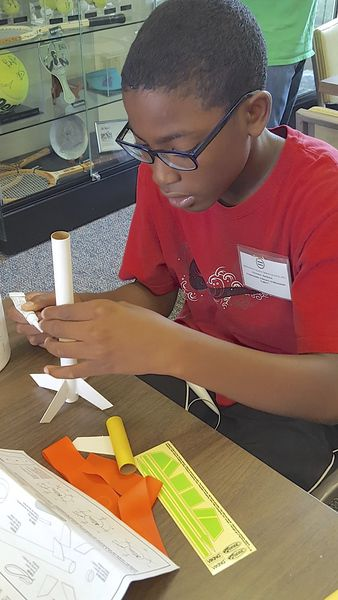 Library launches model rocket program