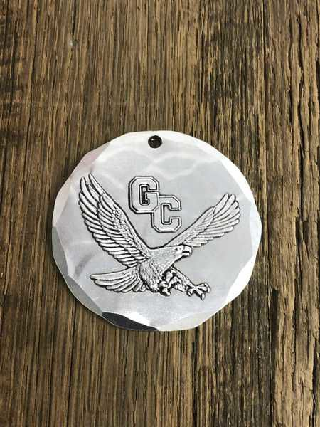 PTO selling custom ornaments with GC eagle