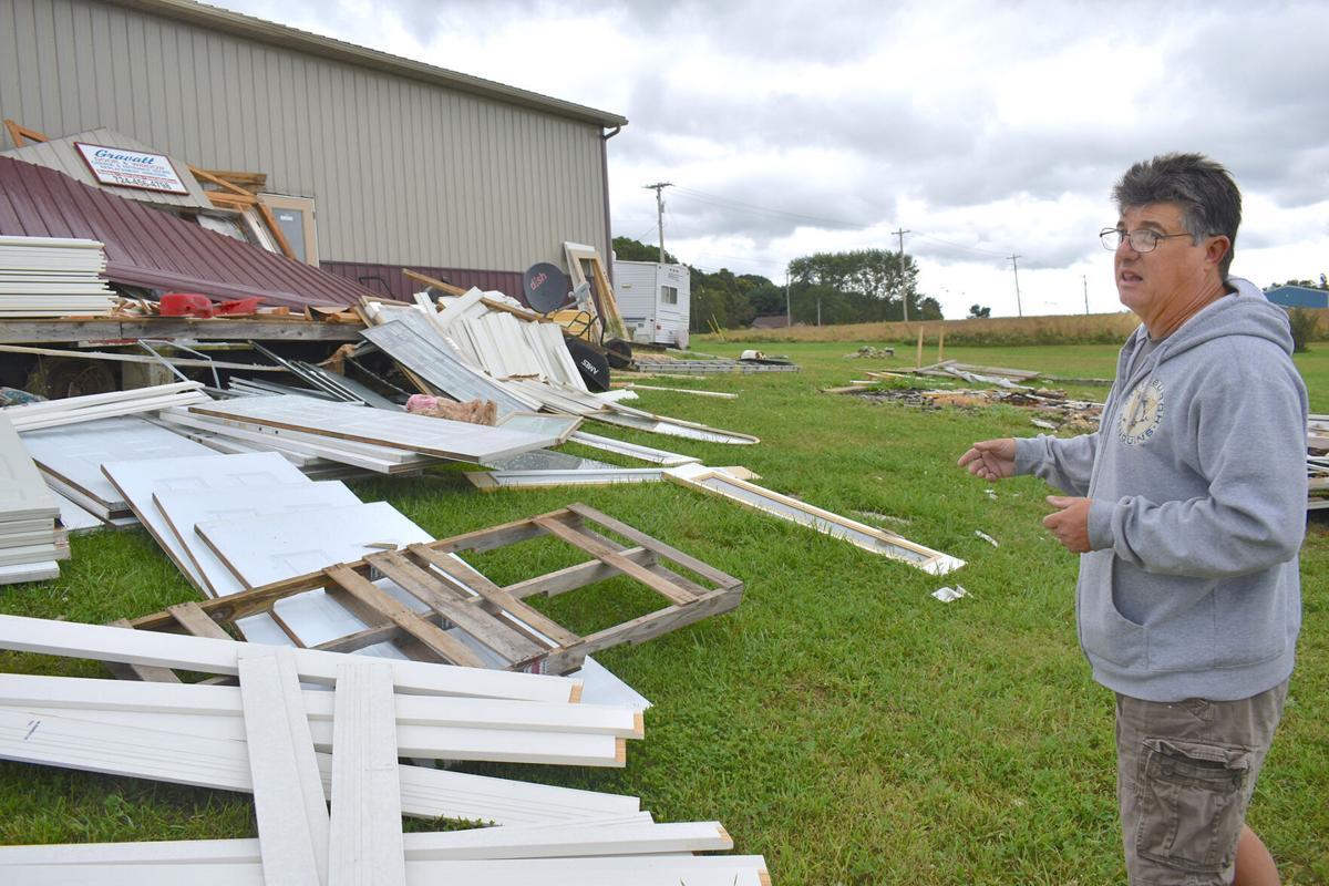 Small tornado hits Lake Township debris