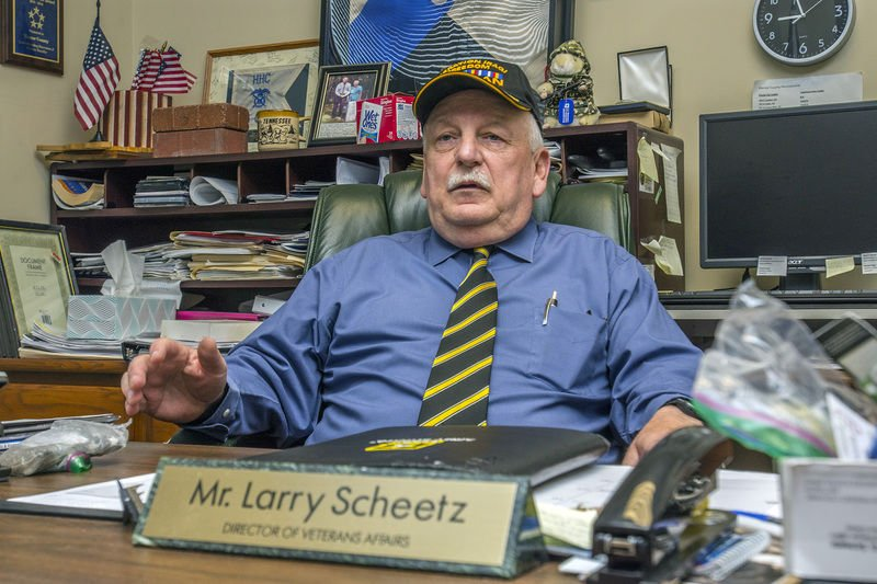 After his service, Scheetz served his band of brothers