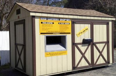 Church offers collection shed for clothing donations