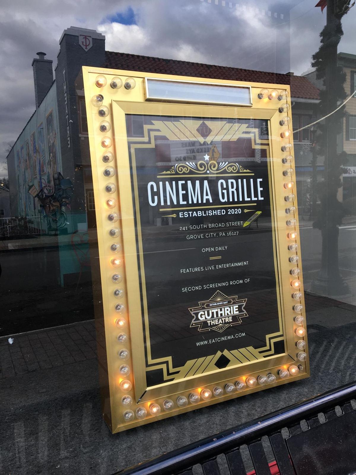 Cinema Grille sign