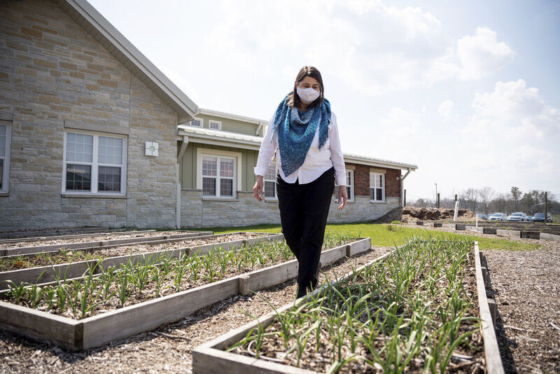 Grove City garden gets rain barrel boost