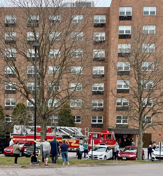 College View Towers evacuated; fire contained to 1 apartment