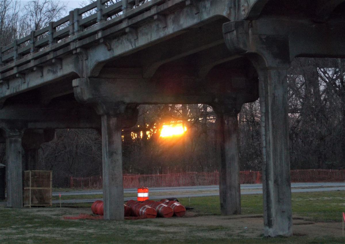 Bridge before it was torn down