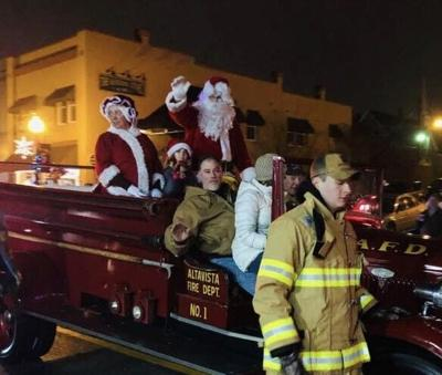 Fire co. in parade