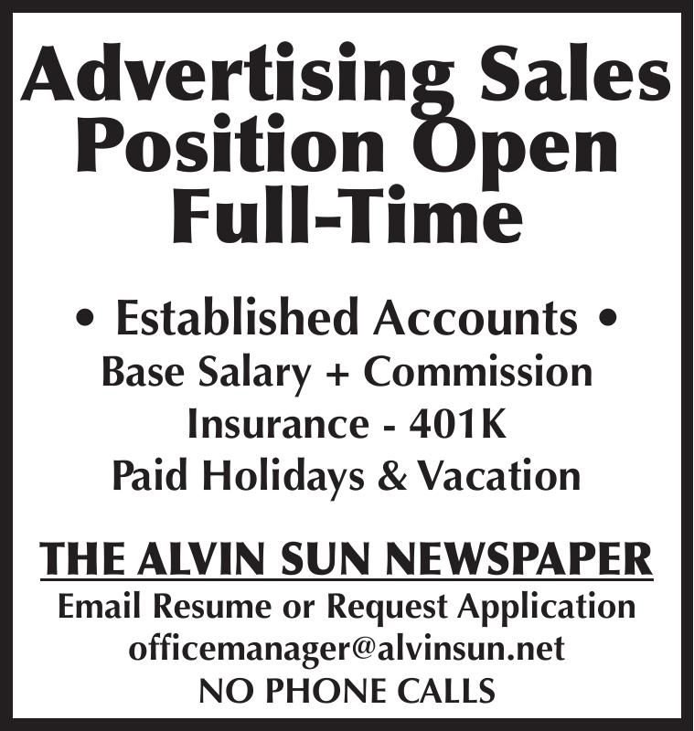 Advertising Sales Position Open Full-Time