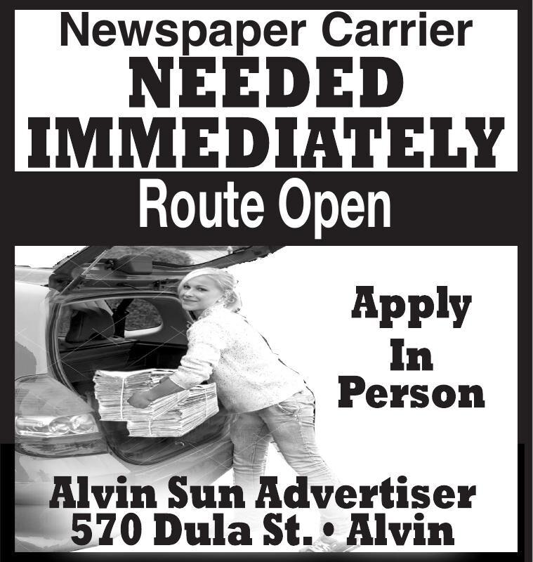 Newpaper Carrier NEEDED IMMEDIATELY