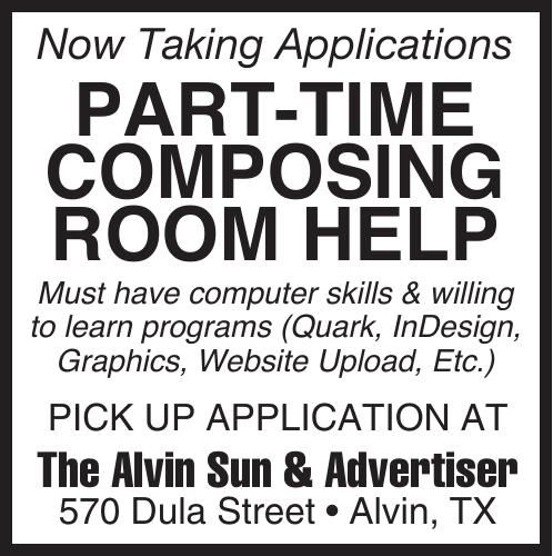 PART-TIME COMPOSING ROOM HELP
