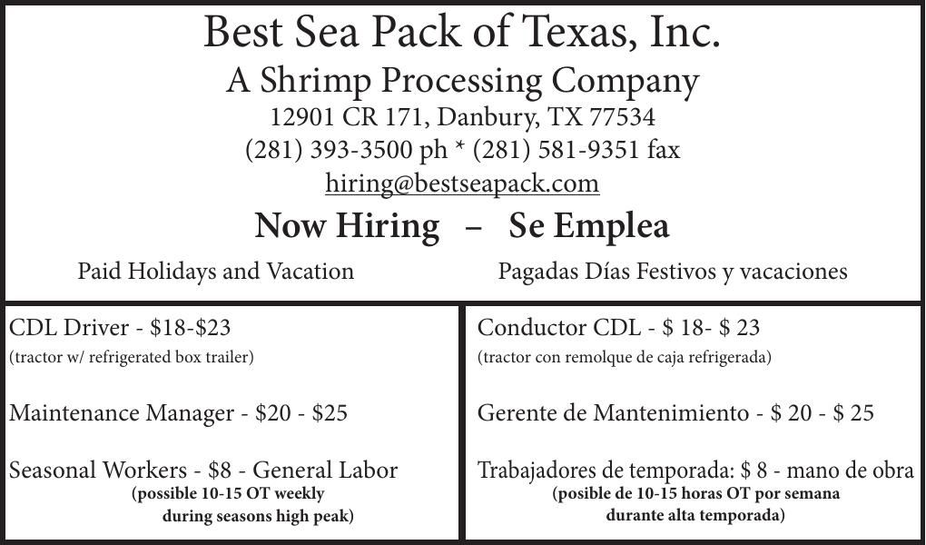 Best Sea Pack of Texas, Inc.