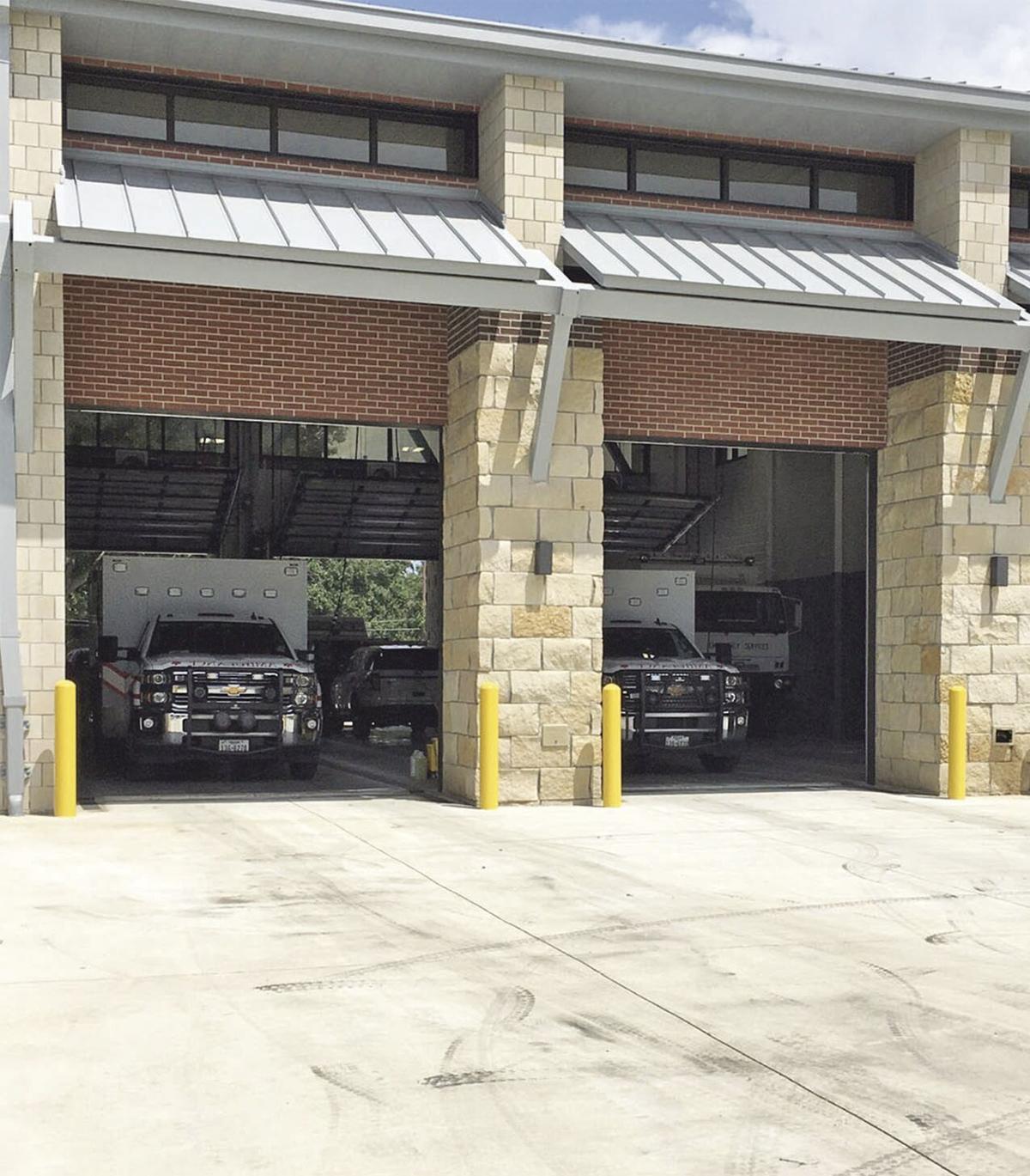 Ambulances at new station