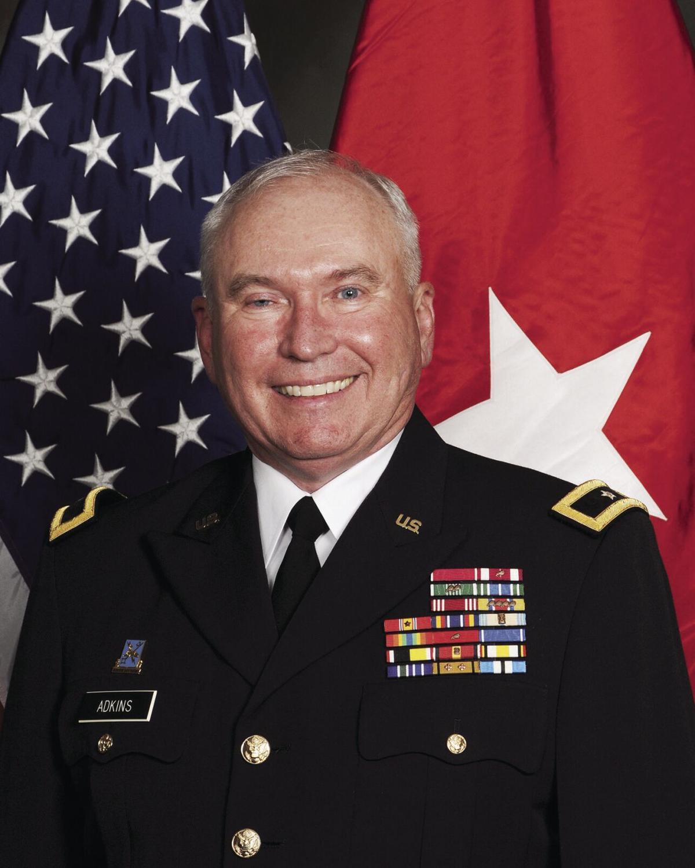Adkins in uniform