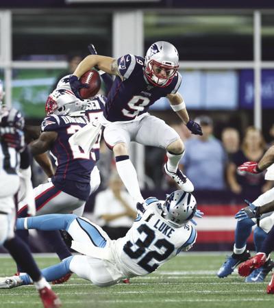 Olszewski Patriots run after catch