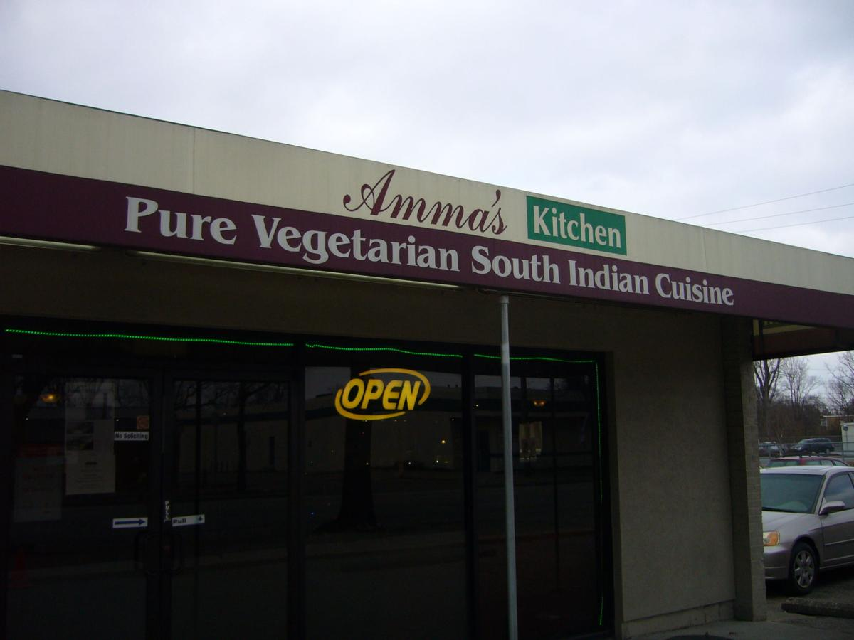 Amma's Kitchen on Reading Road serves Indian cuisine that is exclusively vegetarian.