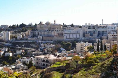 Courtesy of JTA  A view of the city of Bethlehem in the West Bank