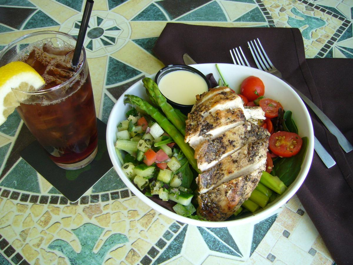 The pepper citron salad is made with grilled chicken breast from Ohio Amish farmers.