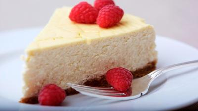 Courtesy of My Jewish Learning. Cheesecake is a very popular Shavuot item.