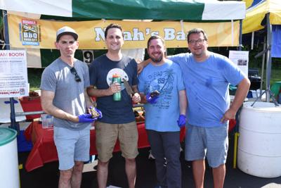 Noah's Bark, the Grand Champion team of the Cincinnati Kosher BBQ Cook-off and Festival: Jared Newman, Mike Broxterman, Aaron Ellison and Dan Weiss.