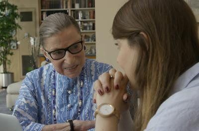 Courtesy of JTA  Ruth Bader Ginsburg with her granddaughter, Clara Spera.