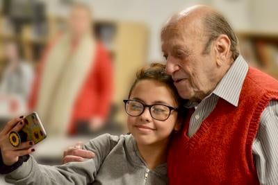 Holocaust survivor and educator Conrad Weiner moved the students from Princeton Middle and High School with his story, and they moved him with their poetry