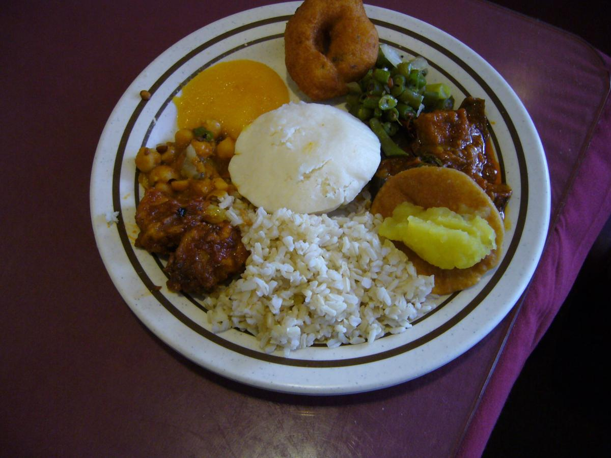 A plate full of delicious vegetarian kosher food.