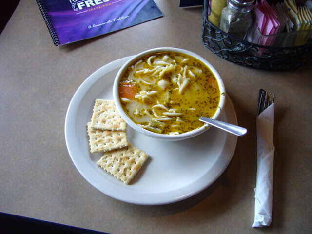 The award-winning chicken noodle soup