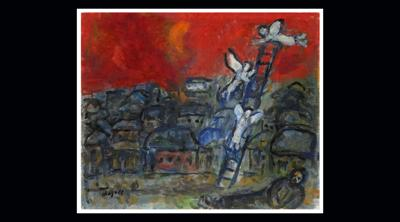 """Courtesy of JTA  The winning bid on Marc Chagall's """"Jacob's Ladder"""" was the lowest suggested by the Israeli auction house."""