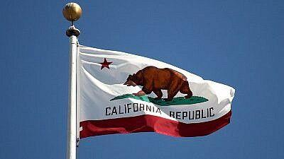 Courtesy of JNS  The flag of California.