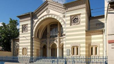 Courtesy of Wikimedia Commons via JNS  The Choral Synagogue in Vilnius, the only active one left in a city once home to more than 100 synagogues prior to the Holocaust.