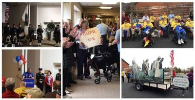 Cedar Village recreated the Honor Flight for veterans 65 and older that were unable to hop aboard the flight to Washington D.C.